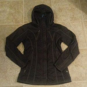 Waxed cotton cute stitch detailed jacket